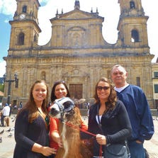 Katie, Stacy, Kelly and Mike at the Plaza in Bogota, Columbia.