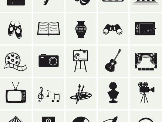 Arts Traveler various icons