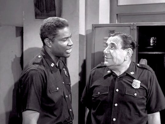 "Ossie Davis and Joe E. Ross in the 1963 episode, ""The"