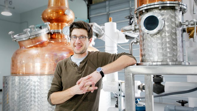 William Goldberg, owner and distiller of Oak and Grist Distilling Company, is focusing on a product that reflects the local roots of the area.