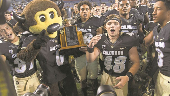 Could CSU and CU earn a rematch from the Rocky Mountain Showdown, shown here, in the Las Vegas Bowl?