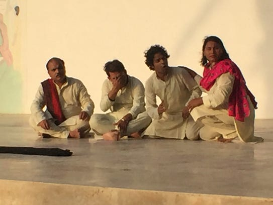 Members of Tehreek e Niswan performing outside of Koohi