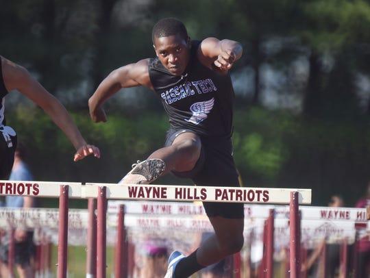 Shamir Taylor, Passaic Tech, 100m hurdles Second Day
