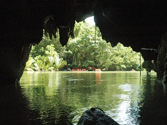 Named one of the New Seven Wonders of Nature, the Puerto Princesa Underground River in the Philippines winds through a limestone mountain cave.