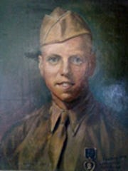 """El Paso artist Bill Rakocy, who died in August, was a World War II Navy """"SeaBee"""" who did a tour in 1944-45 on San Marcus Island, Philippines. In going through the artist's body of work, daughter Diane R. Carter found a portrait dated 1945 of a serviceman named Kenneth A. Hagman from Youngstown, Ohio."""