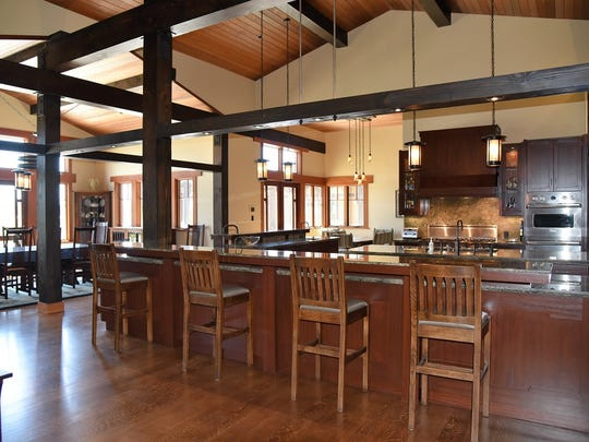 The enormous kitchen in this Somis home, outfitted