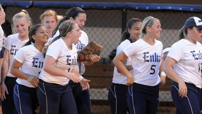 Enka softball is home tonight for Game 1 for the 3-A Western Regional championship series.