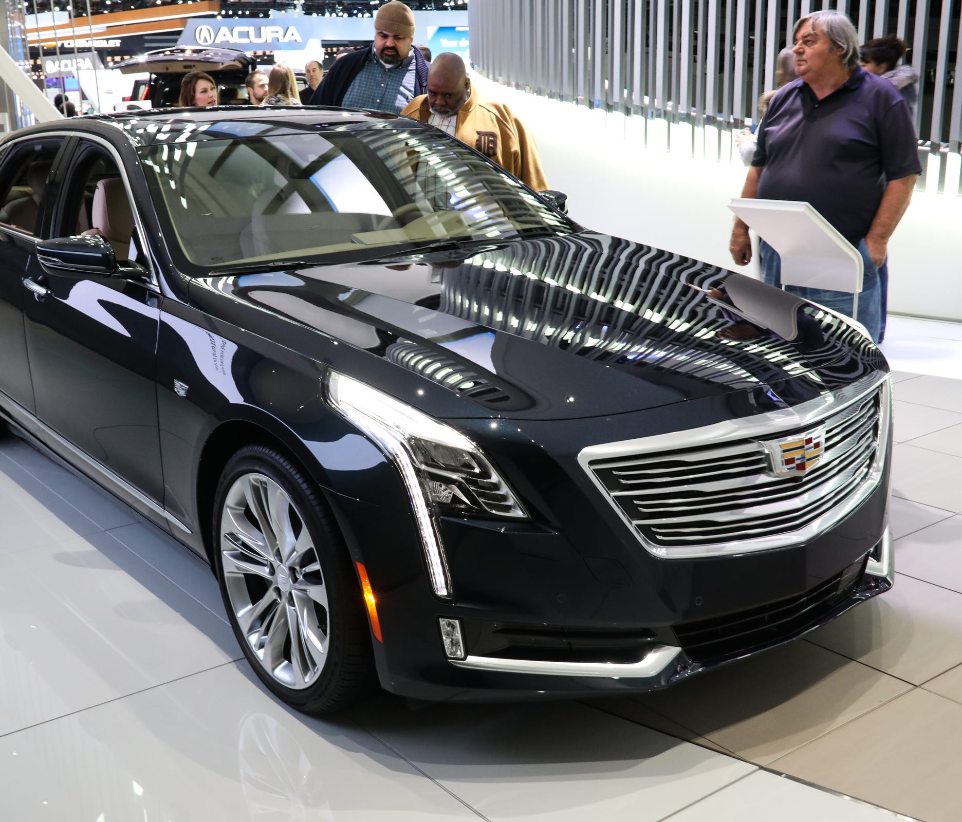 The Cadillac Super Cruise CT6 has a hands-free driving system for the freeway seen at the North American International Auto Show in Detroit on Thursday, Jan. 25, 2018.