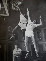 Johnny Wilson is shown at Anderson College. He was selected to play on the college All-Star team in 1949 against George Mikan and the Minneapolis Lakers.