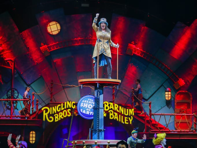 The Ringling Bros.' first female ringmaster Kristen