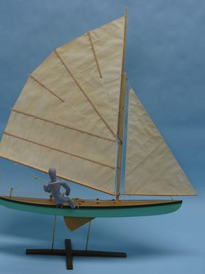 Model contest entries include this model of a decked sailing canoe, scratch-built by Steve Wheeler of Racine.