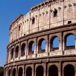 How did Romans know where to sit when they went to the Colosseum to watch their favorite gladiators?