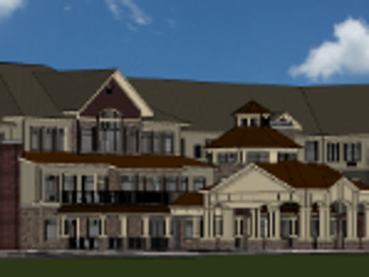 A three-story senior apartments building will be part of the Ballpark Commons development in Franklin.
