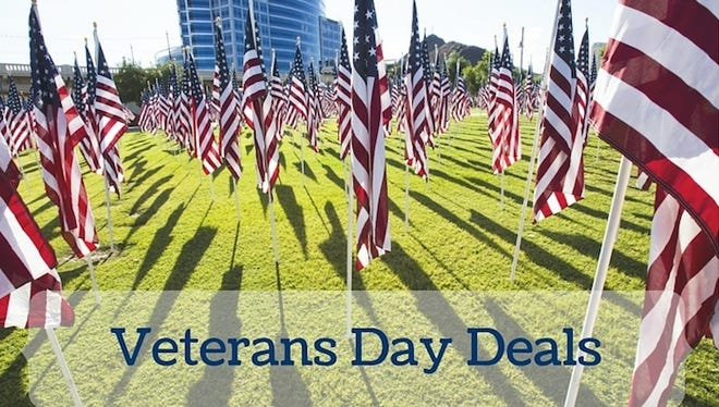 Veterans Day is Wednesday, November 11. Business around metro Phoenix are offering discounts, deals and free meals to honor military members.