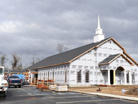 Mount Vernon Missionary Baptist is in the process of being rebuilt in Petal after the Jan. 21, 2017, tornado.