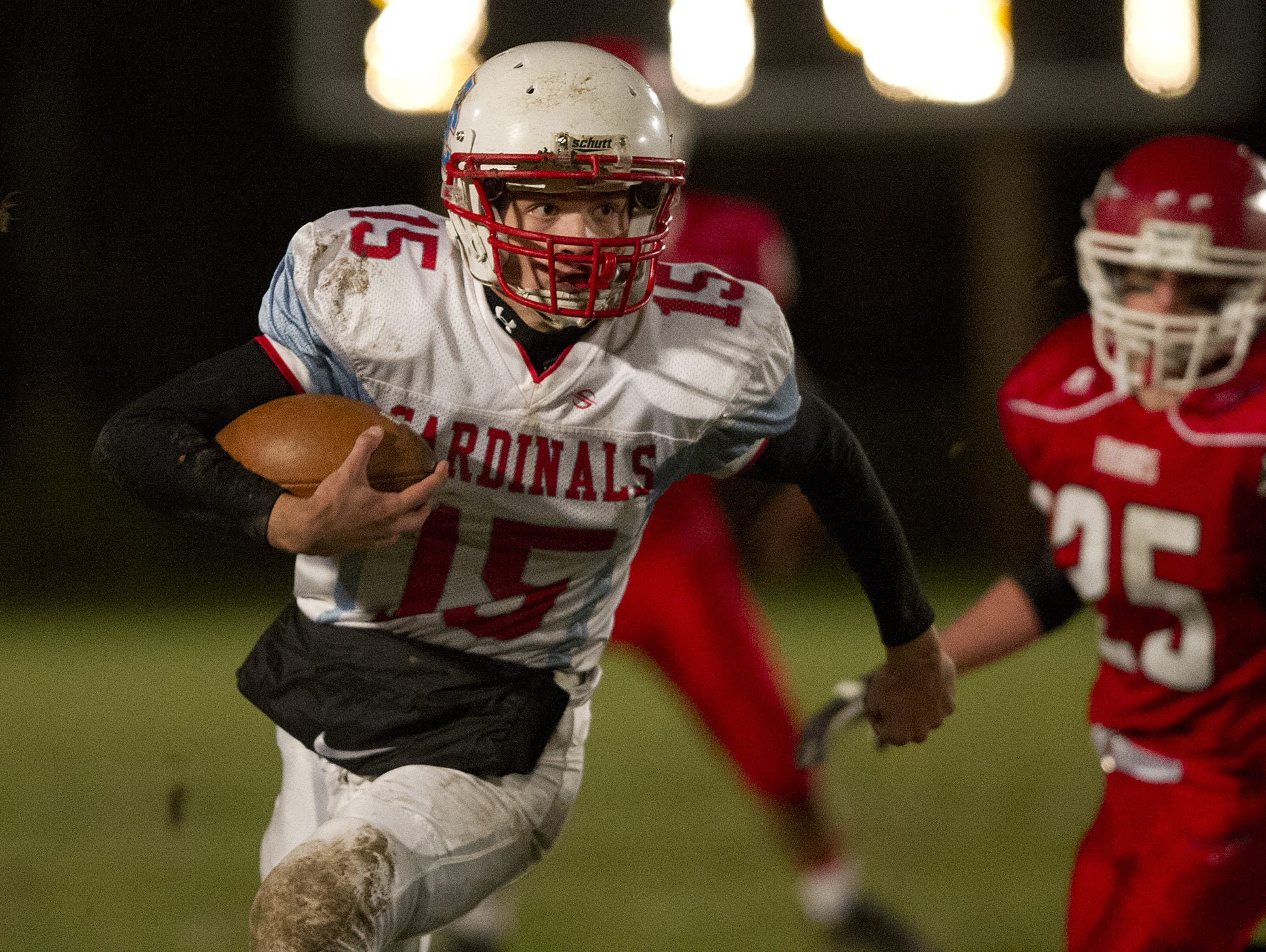 Newman Catholic quarterback Jake Gajewski is one of four finalists for the Win Brockmeyer Award. D.C. Everest's Stephen Paoli, Wausau East's Landon Krueger and Wausau West's Brady Lenz are also finaists for the award
