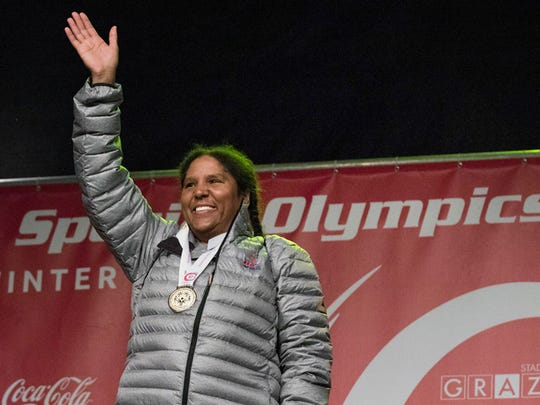 Regi Theodore-Wise received a gold and bronze medal at the Special Olympics World Winter Games Austria 2017.