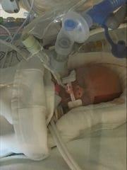 This a photo of Life Lynn DeKlyen, who was born yesterday.
