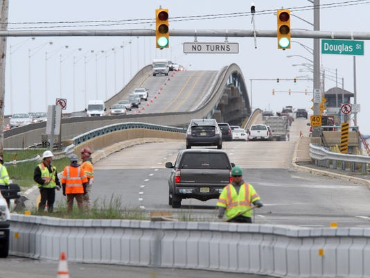 MATHIS BRIDGE REOPENS