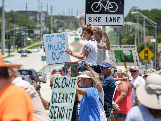 Concerned local citizens rallied against the toxic