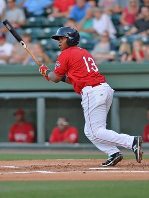Rafael Devers made  his major league debut with the Red Sox on July 25; only two seasons ago, he was playing for the Greenville Drive.