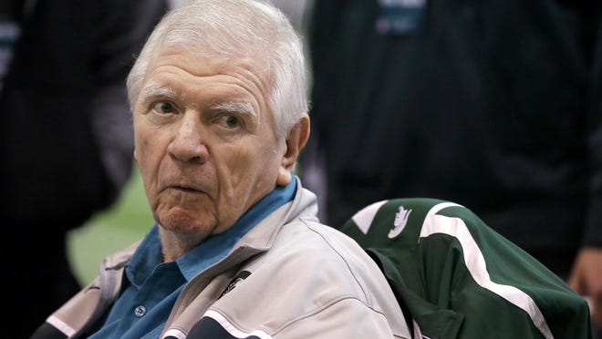 Former Michigan State head football coach George Perles