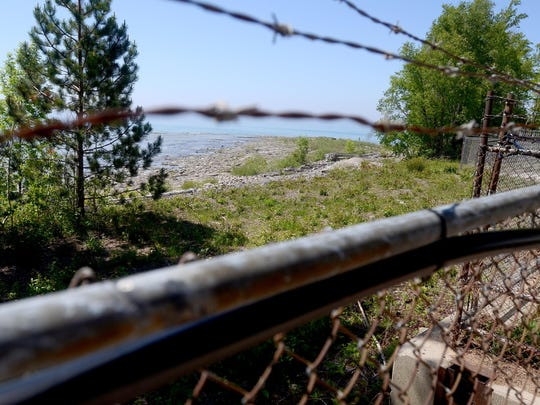 Lake Huron in the near distance, at the Ontario Power Generation's Bruce Power Site in Kincardine, Ontario.
