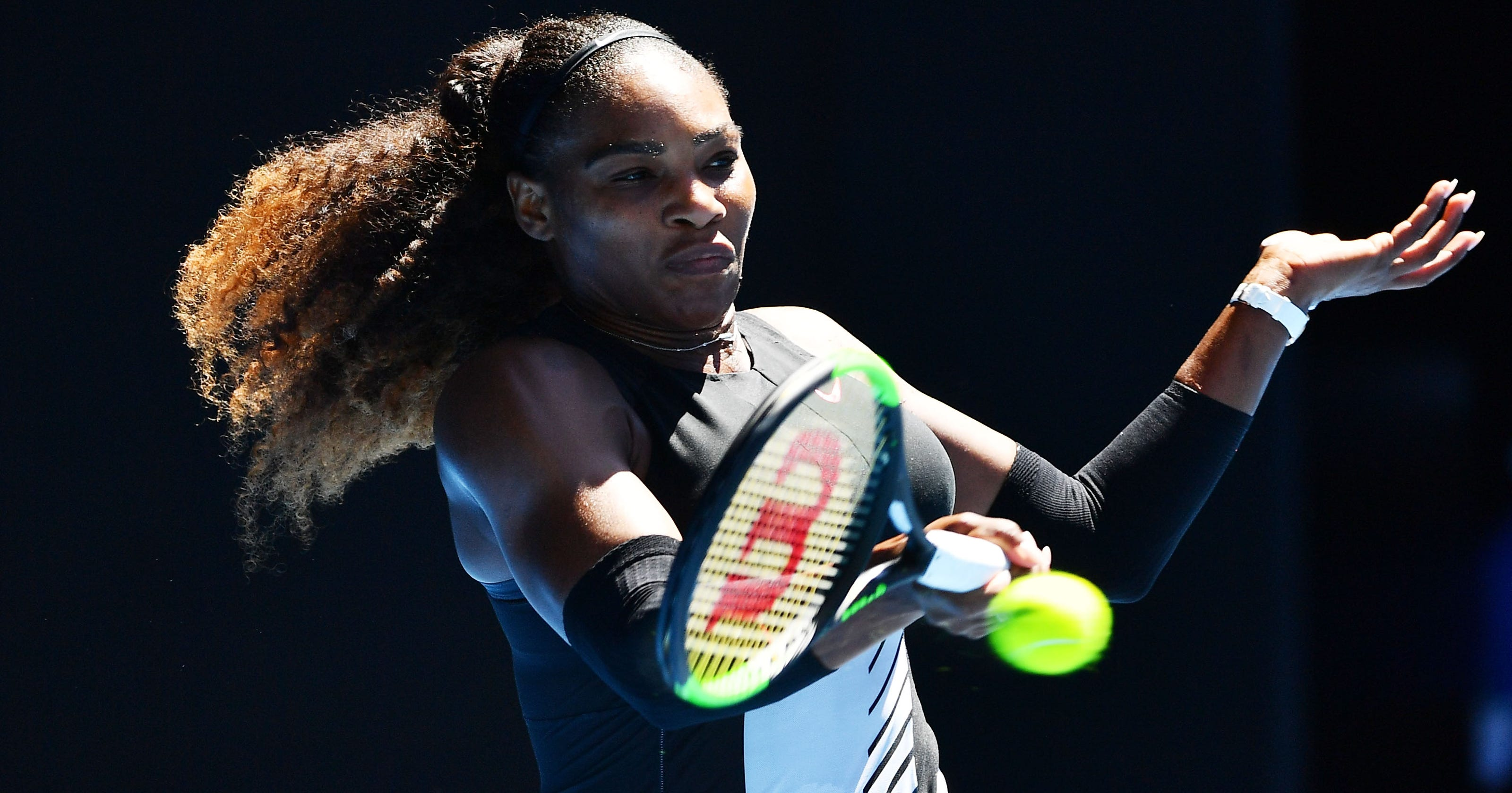 the best attitude 8e79f c1141 Serena Williams once challenged men s player at Australian Open