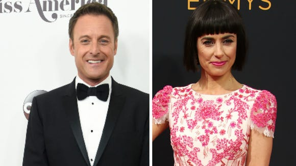 Chris Harrison and Constance Zimmer