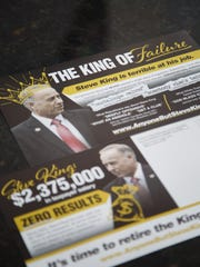 Mailers created by Doug Alexander, who is a father of three mixed-race sons, and is deeply offended by U.S. Rep. Steve King's comments on immigration, race and civilization.