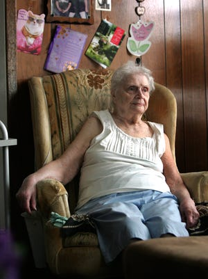 Claire Danielczyk, 89, is fighting the water company over a $742 quarterly water bill she received. Usually her bill is about $30 or $40.