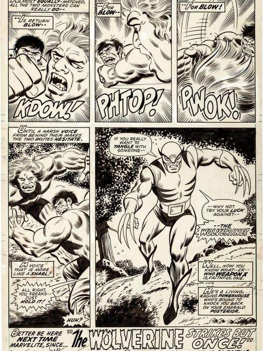 Comics-Wolverine's Debut