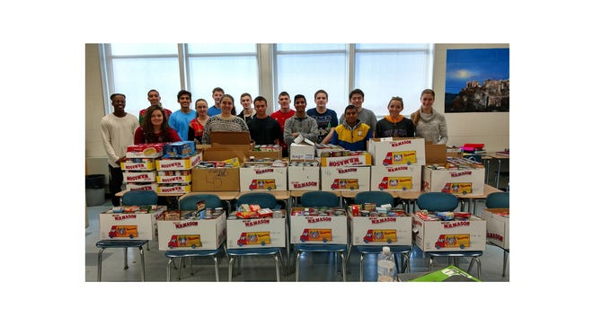 Buena Regional High School's annual food drive sponsored by the Academic Team and the AP Calculus class was very successful. More than 2,350 items of food were collected and donated to local food banks including:  Martin Luther King Center, Abundant Living Church, Spanish Community Center and Salvation Army at the Senior Center. For a small school, with close to 600 students, that was a tremendous effort.   The school's Future Farmers of America also ran a coat drive, collecting more than 75 coats, and a toy drive.