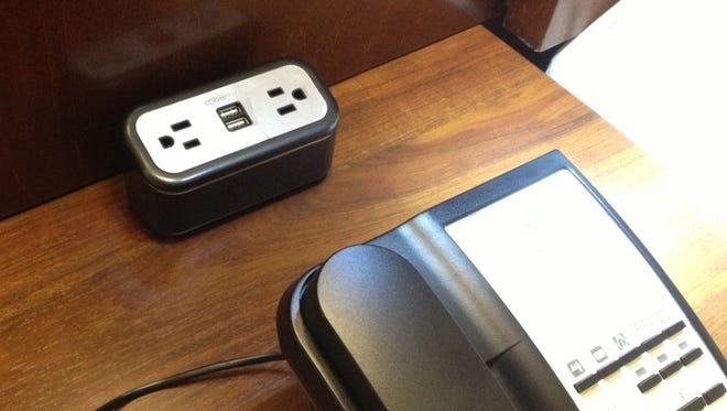 Comfort Inns and Comfort Suites have recharge stations with traditional plugs and USB ports at every desk.