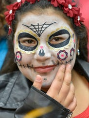 Emily Godinez, 9, at the Halloween bash.