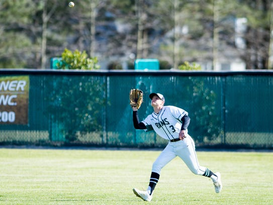 Parkside right fielder Grant Burleson (3) eyes in a