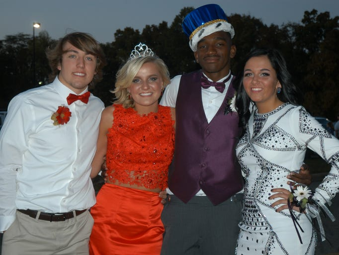 Homecoming Queen Carley Barker and Homcoming King Malcolm