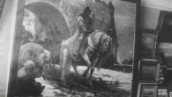 Court records filed Thursday, Dec. 20, 2018, by U.S. officials say the painting of Ivan the Terrible was scheduled to be auctioned by a couple in Ridgefield, Conn., last year when a Ukrainian museum intervened. The museum said the work was a 1911 oil painting that had been stolen during Nazi occupation.
