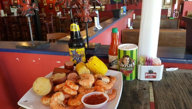 Low Country Boil at Coosh's Bayou Rouge.
