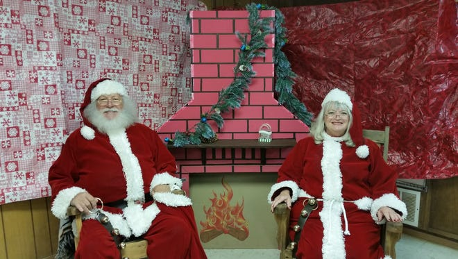 Santa and Mrs. Claus will pose for photos with children during the bazaar.