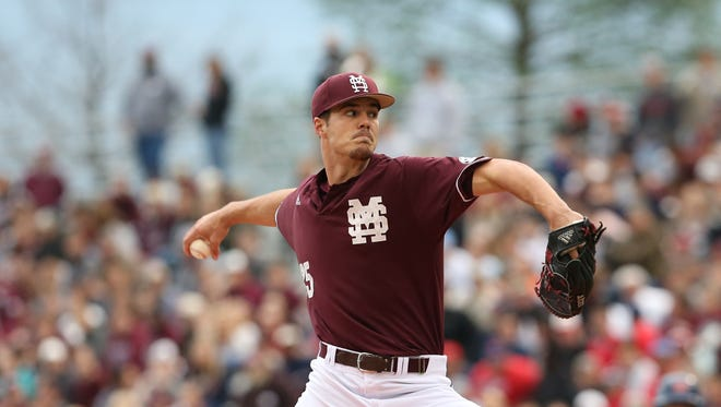 Mississippi State's Dakota Hudson was named a semifinalist for the Golden Spikes Award on Wednesday.