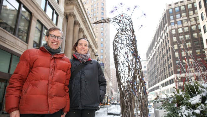 Boston artists Andy Moerlein and Donna Dodson, known as The Myth Makers