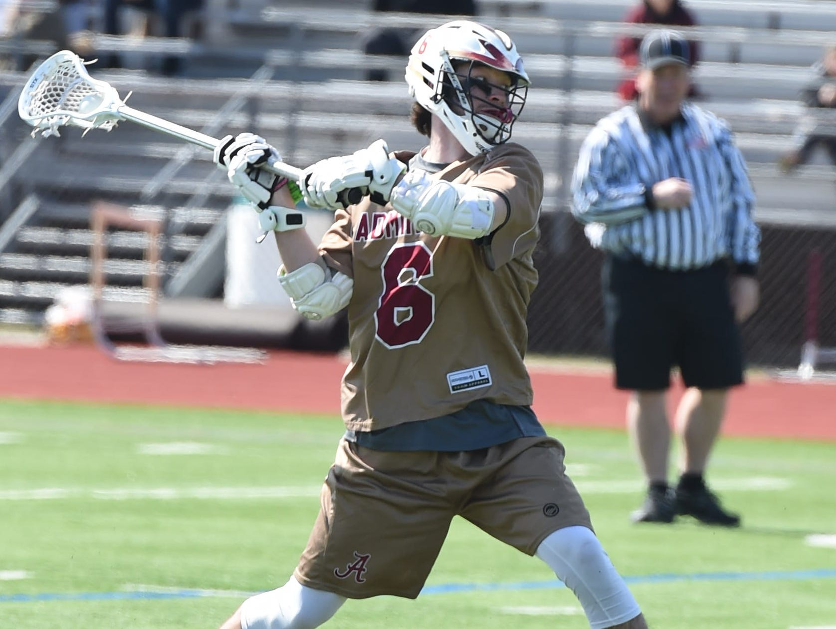 Arlington's Kevin Litchauer takes a shot during Tuesday's game versus Putnam Valley at Arlington.