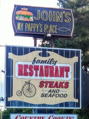 John's, My Pappy's Place restaurant in Rippon, West
