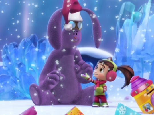 "Mim-Mim and Kate plan to help Santa in ""A Christmas Wish,"" the holiday episode of ""Kate & Mim-Mim"" on Disney Junior."