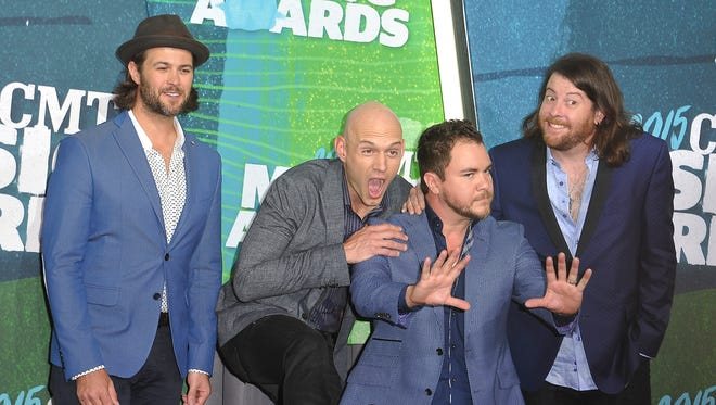 In this file image, the Eli Young Band arrives on the 2015 CMT Music Awards Red Carpet on Wednesday June 10, 2015, in Nashville.