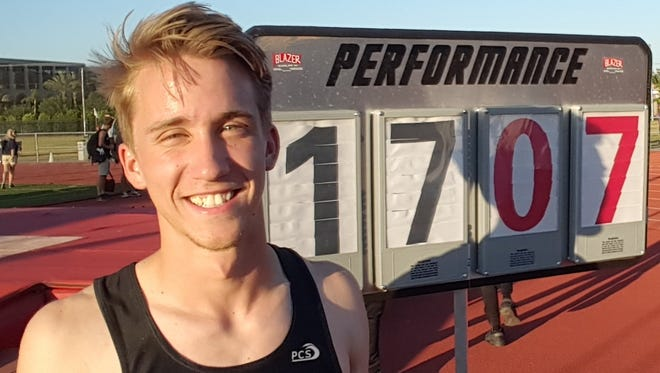 Surprise Valley Vista senior Cole Riddle  broke Nick Hysong's 27-year-old state pole vault record.