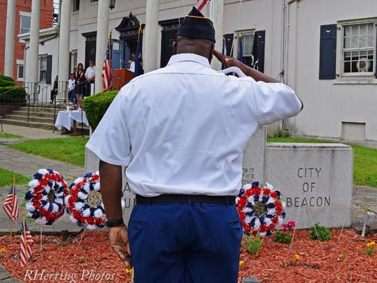 A scene from the Beacon Memorial Day ceremony on Monday.