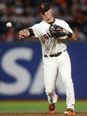 Giants second baseman Joe Panik was the MVP of the Northwest League in 2011 as a member of the Salem-Keizer Volcanoes.