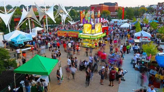 Thousands flooded Front Street for the Cuyahoga Falls Oktoberfest in 2019. Organizers have announced that the 2020 festival has been canceled due to the COVID-19 pandemic.